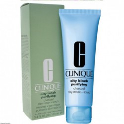 CLINIQUE City Block Purifying Charcoal Clay Mask + Scrub  Čistící maska + Peeling